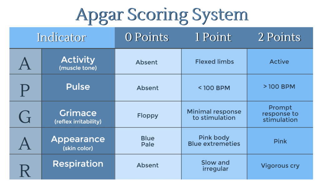 HIE and the Apgar Scoring System | Pennsylvania HIE Attorneys (Hypoxic-Ischemic Encephalopathy)