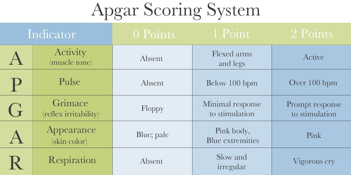 Apgar Scoring System - Diagnosing Cerebral Palsy, HIE and Birth Injuries