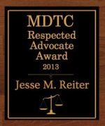 MDTC Respected Advocate Award 2013 | Award Badge